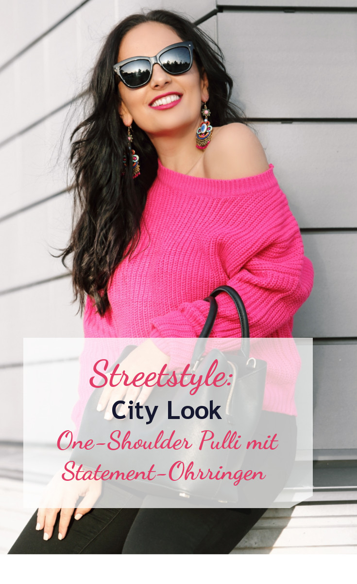 streetstyle-pink-one-shoulder-sweater-statement-earrings-ohrringe-sunnies-city-style-outfit.